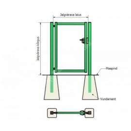 Jalgvärava raam 1x1 m zn+RAL6005