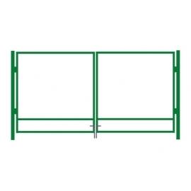 Autovärava raam roheline 400x125cm