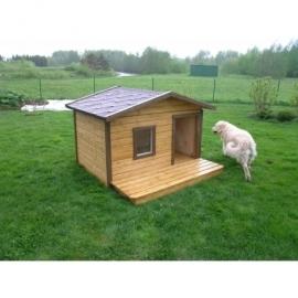 Soojustatud terrassiga koerakuut Rocco