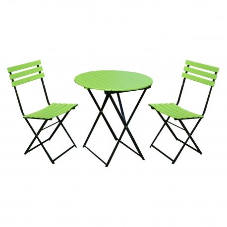 Aiamööbli komplekt FLIP laud ja 2 tooli