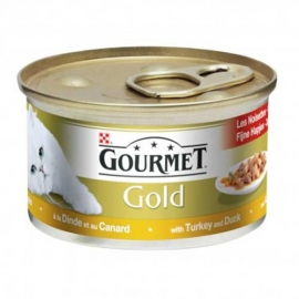 Gourmet Gold kassikonserv kalkun/part tükid kastmes 85g x 48tk