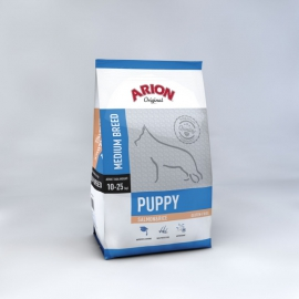 ARION koeratoit ORIGINAL PUPPY MEDIUM BREED SALMON & RICE 3kg