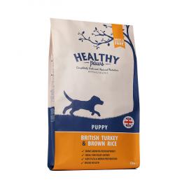 Healthy Paws puppy Briti kalkun & pruun riis koeratoit 12kg