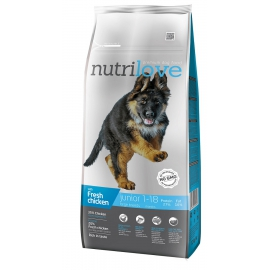 Nutrilove Junior Large Breed chicken koeratoit 12kg