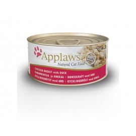 Applaws kana ja pardilihaga konserv kassidele 24x70g
