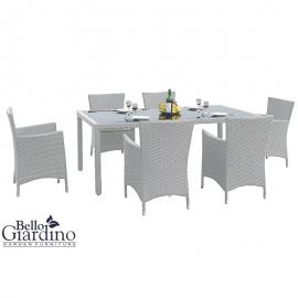 Aiamööbli komplekt Bello Giardino CAPITALE hall, 6 tooli + laud