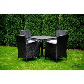 Aiamööbli komplekt Bello Giardino SEMPLICE must, 4 tooli + laud