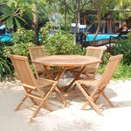 Aiamööblikomplekt ROSY laud ja 4 tooli