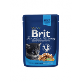 Brit Premium kassikonserv Chicken Chunks Kitten 24x100g