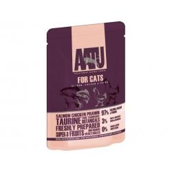 AATU kassikonserv lõhe/kana/krevett 16x85g