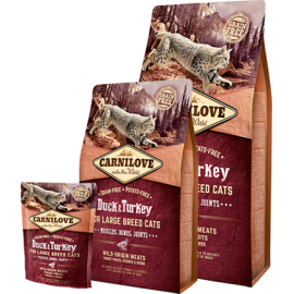 Carnilove Duck & Turkey Large Breed kassitoit 2kg