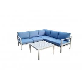Aiamööbli komplekt Bello Giardino ALLUMINIO sinine, diivan + laud