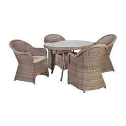 Aiamööblikomplekt TOSCANA 4 tooliga