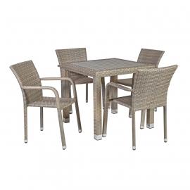 Aiamööbli komplekt LARACHE laud ja 4-tooli