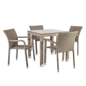 Aiamööbli komplekt LARACHE laud ja 4 tooli