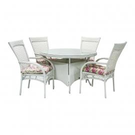 Aiamööbli komplekt WHISTLER laud ja 4 tooli