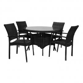 Aiamööbli komplekt WICKER laud ja 4 tooli