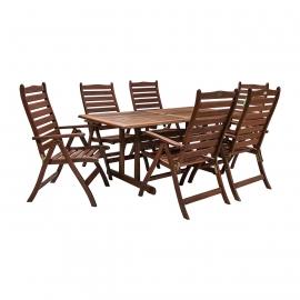 Aiamööbli komplekt VENICE laud ja 6 tooli