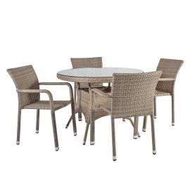 Aiamööbli komplet LARACHE laud ja 4 tooli