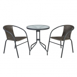 Rõdukomplekt BISTRO laud ja 2 tooli