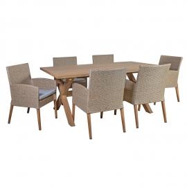 Aiamööbli komplekt HENRY laud ja 6 tooli