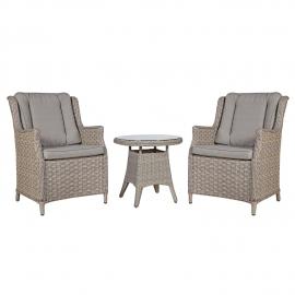 Aiamööbli komplekt PACIFIC laud ja 2 tooli