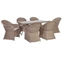 Aiamööbli komplekt TOSCANA 6-tooliga