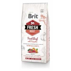 Brit FRESH koeratoit Beef & Pumpkin for Large Breed Puppies 2,5kg