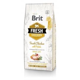 Brit FRESH koeratoit Chicken & Potato for Adult 2,5kg