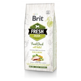 Brit FRESH koeratoit Duck & Millet for Active Run & Work 2,5kg