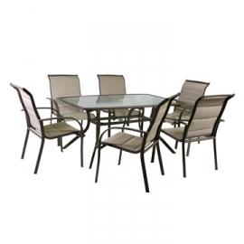 Aiamööbli komplekt OTTAWA laud ja 6 tooli