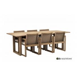 Aiamööbli komplekt Apple Bee ANTIGUA beež / tiik, 6 tooli + laud