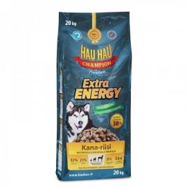Hau Hau Extra Energy koeratoit aktiivsetele täiskasvanud koertele 20kg