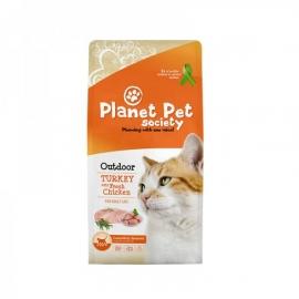 Planet Pet Society täistoit täiskasvanud õuekassidele kalkunilihaga 7kg