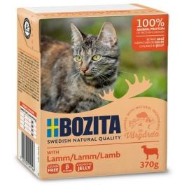 Bozita kassikonserv Lamb in Jelly 16x370g