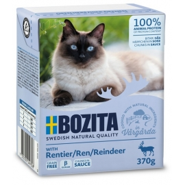 Bozita kassikonserv Reindeer (põhjapõdraliha) in sauce 16x370g