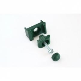 3-osaline plastist kergpaneeli kinnitusklamber 40x60-postile (must)