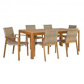 Komplekt CAPTAIN laud ja 6 tooli