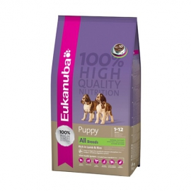 Eukanuba all breeds Puppy / Junior Lamb & Rice koeratoit 12kg