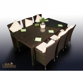 Aiamööbli komplekt Bello Giardino GUSTOSO tumepruun, 6 tooli + laud
