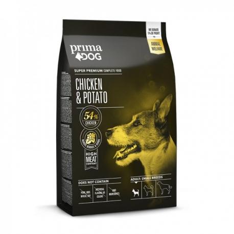 Prima Dog täistoit kana-kartuli väikest tõugu täiskasvanud koertele 4 kg