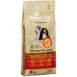 Planet Pet Society koeratoit adult large breed kana ja riisiga 15kg