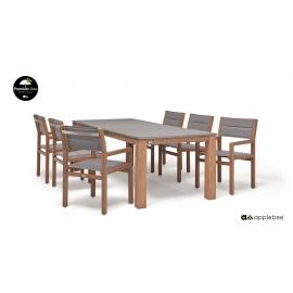 Aiamööbli komplekt Apple Bee DEL MAR tiik, laud + 6 tooli