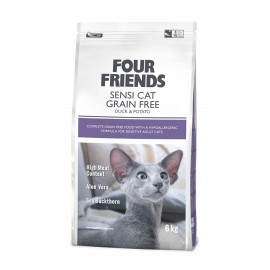 Four Friends kassitoit Sensi part & kartul teraviljavaba 6kg