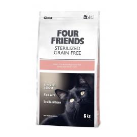 Four Friends kassitoit Grain Free Sterilized Duck & Turkey 6kg
