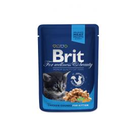 Brit Premium kassikonserv Chicken Chunks Kitten 24x100g