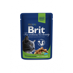 Brit Premium kassikonserv Chicken Slices Sterilised 24x100g