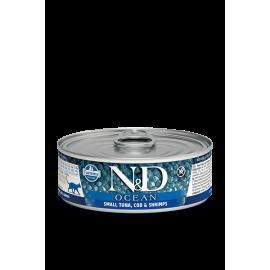 Farmina Tuna, Cod & Shrimp kasskonserv 12x80g