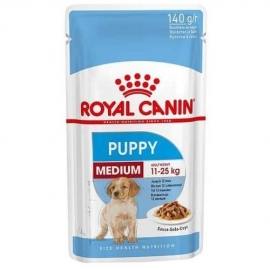 Royal Canin SHN MEDIUM PUPPY WET koeratoit 10x140g