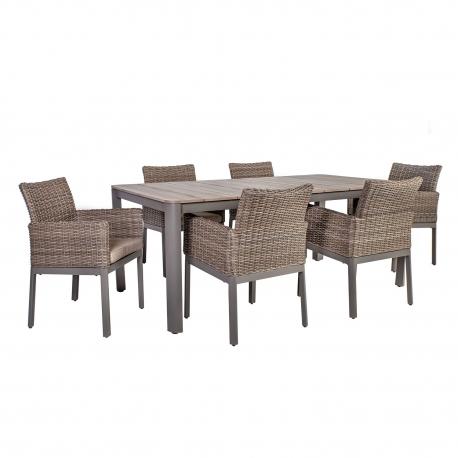 Aiamööbli komplekt ADMIRAL laud ja 6 tooli